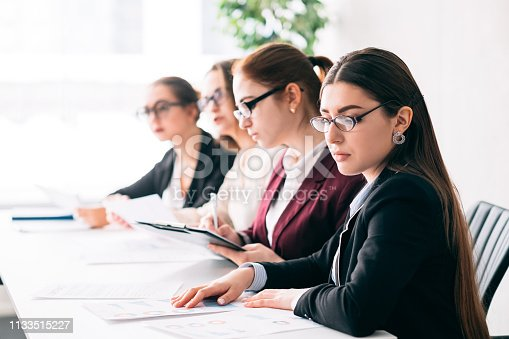 Job interview. Employee selection. Corporate HR staff choosing best candidate for business vacancy.