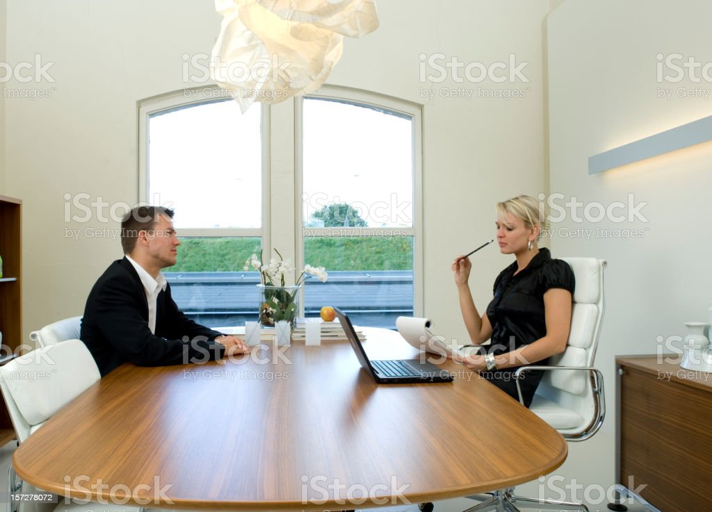 job interview in office royalty-free stock photo