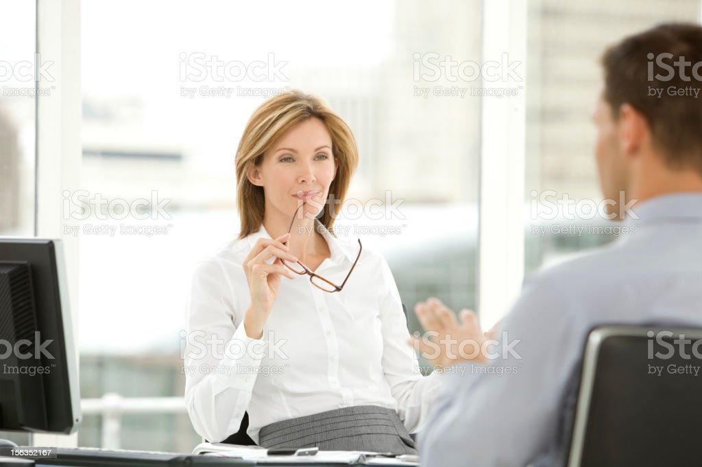 Job interview stock photo