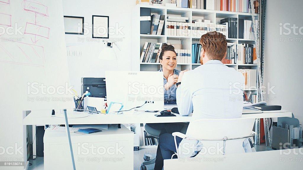 Job interview. stock photo