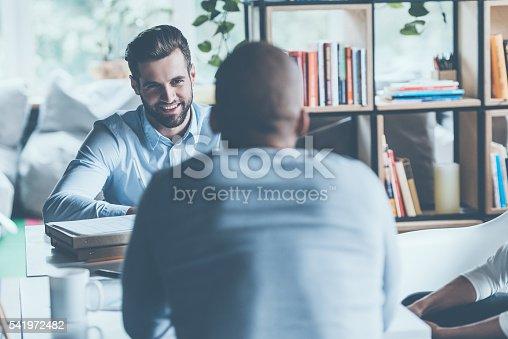 istock Job interview. 541972482