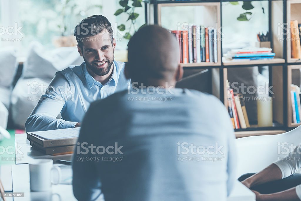 Job interview. stock photo