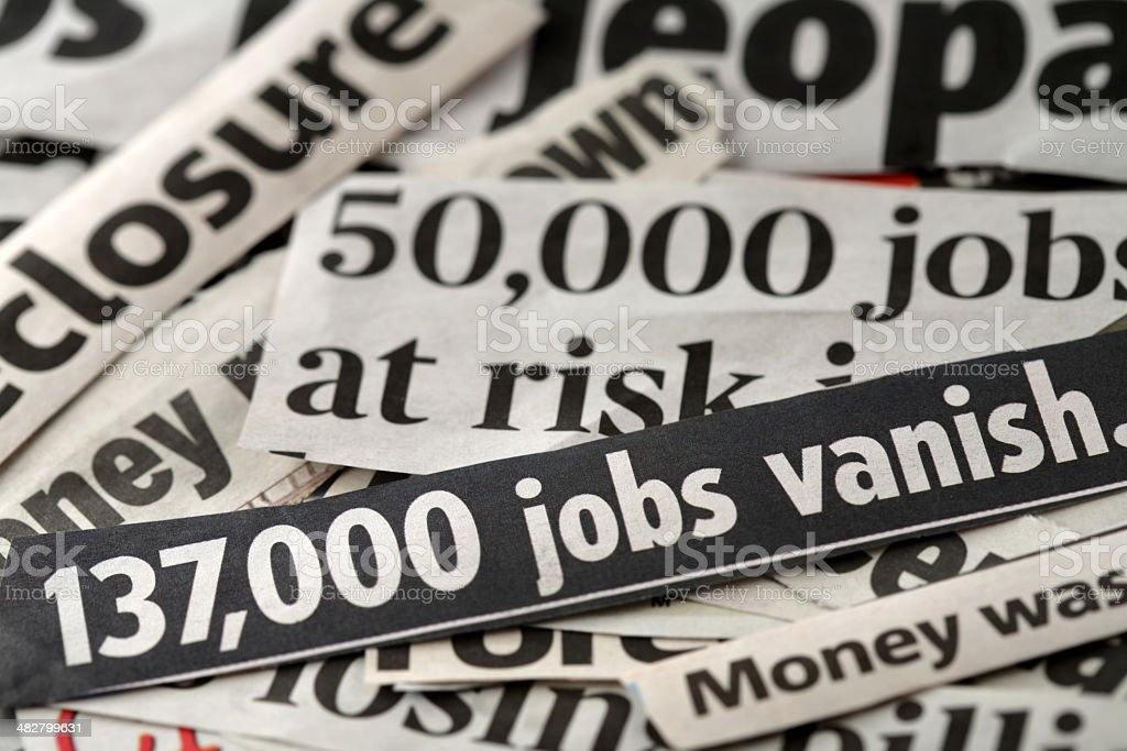 Job loss stock photo