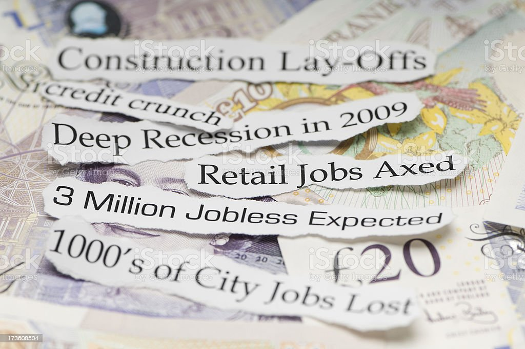 Job Losses because of Credit Crunch stock photo