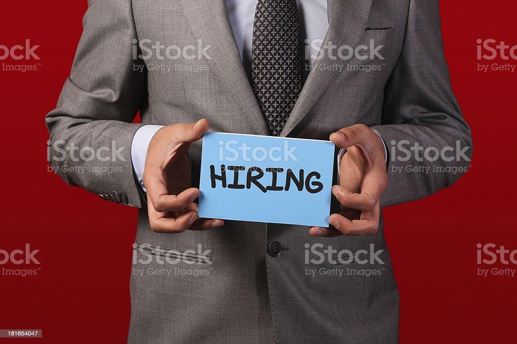Job man hiring royalty-free stock photo