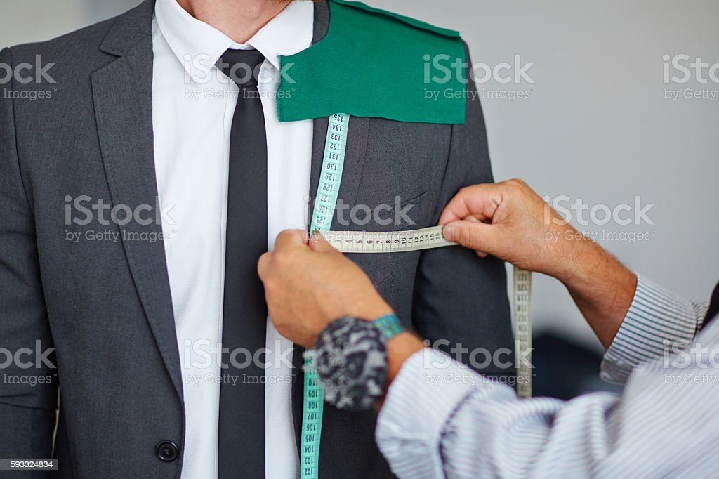 Job of tailor stock photo