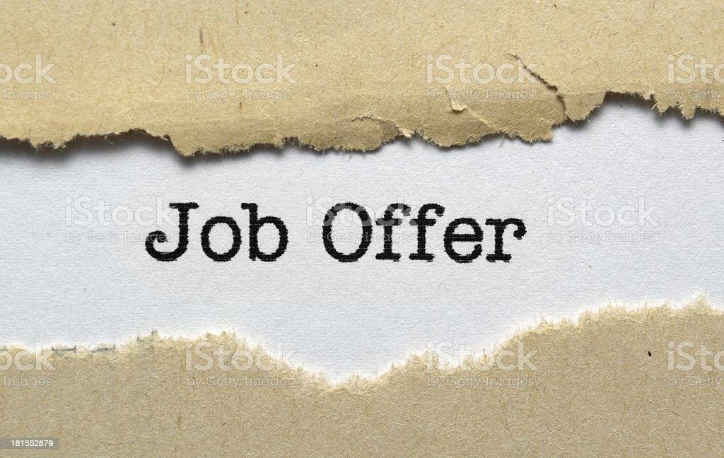 Job offer royalty-free stock photo