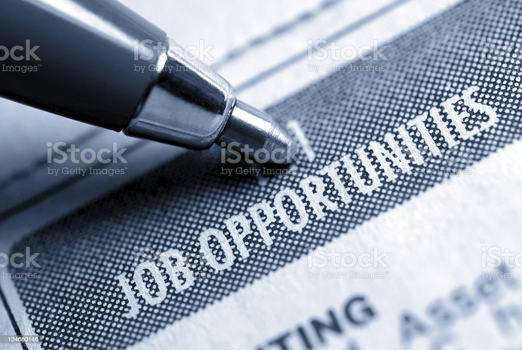 Job Opportunity Classified stock photo