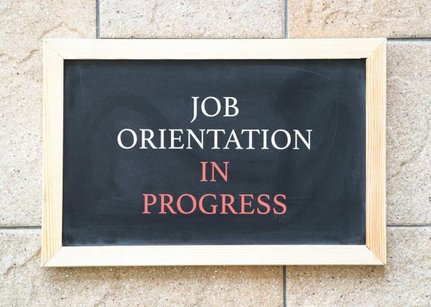 arbets orientering pågår - new job bildbanksfoton och bilder