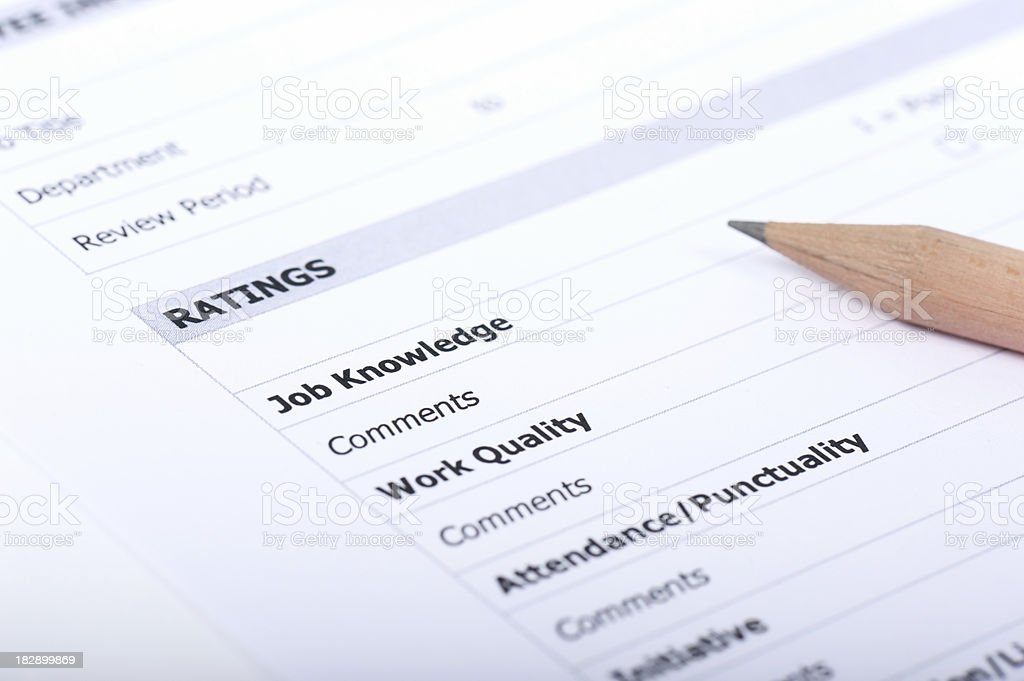 Job performance questionnaire royalty-free stock photo