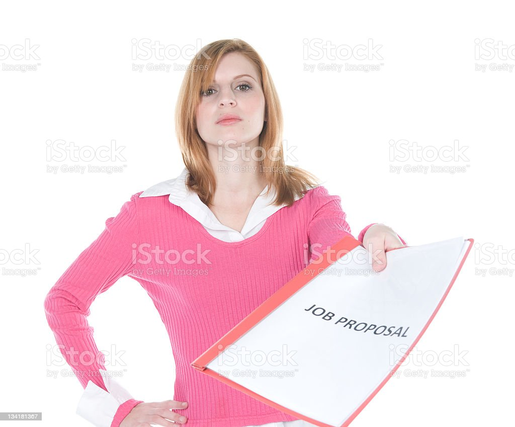 Job Proposal stock photo