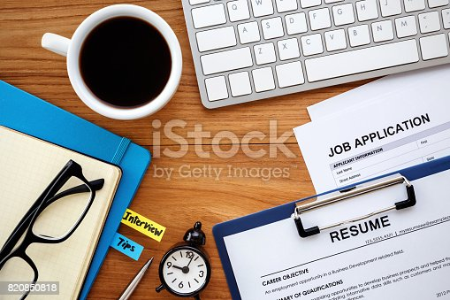 istock Job search background 820850818