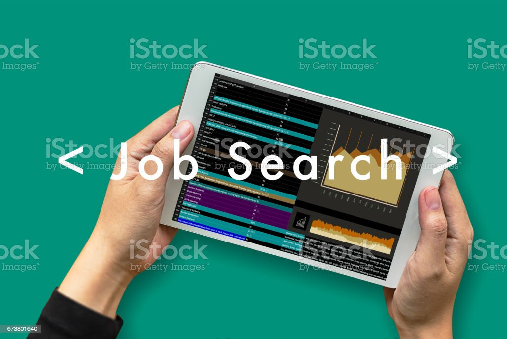Job Search Businessman Internet Online join us photo libre de droits