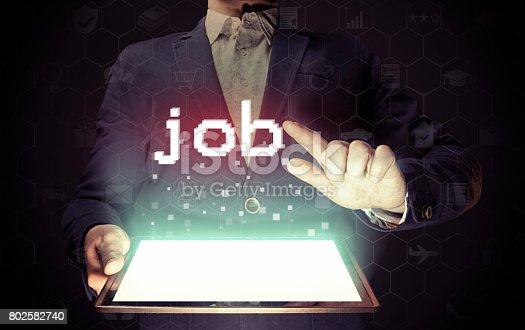 636681940 istock photo Job search concept. 802582740