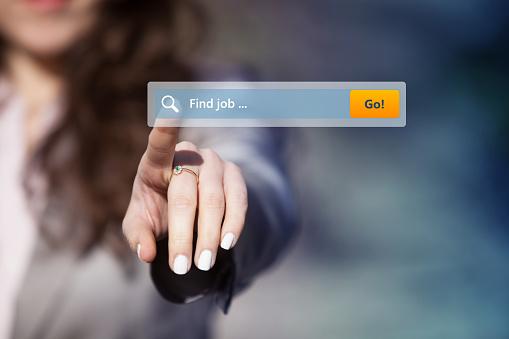 Job Search On The Internet - Fotografie stock e altre immagini di Accessibilità