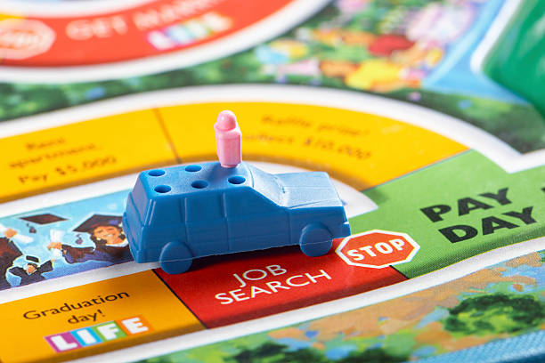 job search - game of life stock photos and pictures