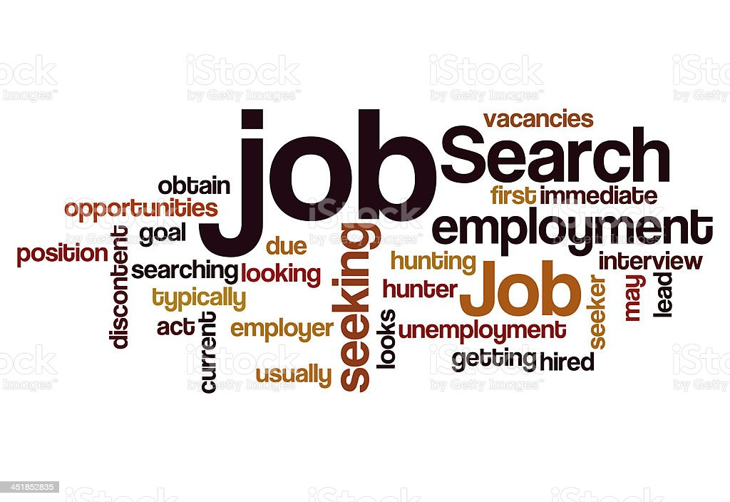 job search seeking employment concept background stock photo