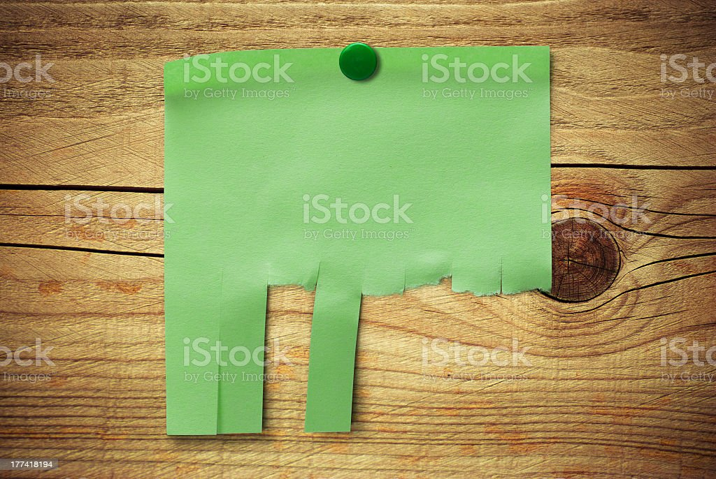 job search - tear off notice stock photo