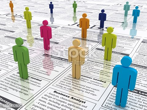 Job search unemployment furlough classified ad  ++ Please note: All graphics elements and text are of my own design. ++