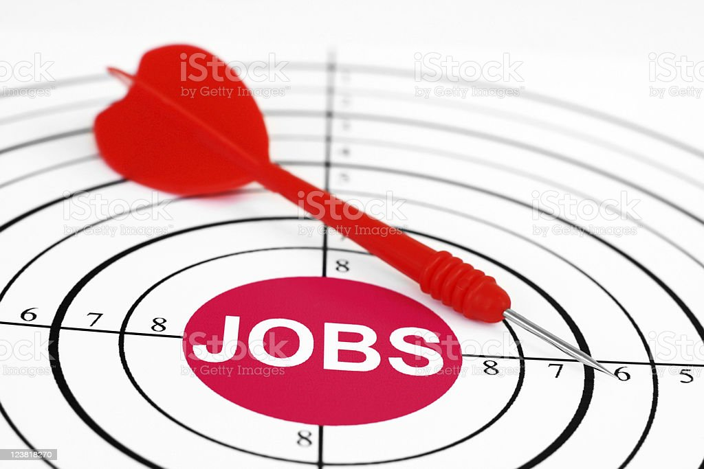 Job target royalty-free stock photo