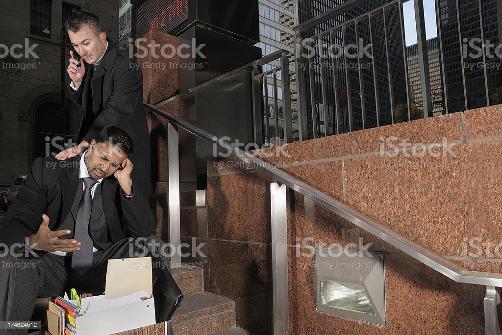 Job termination royalty-free stock photo