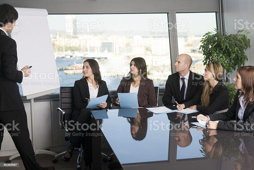 Job training royalty-free stock photo