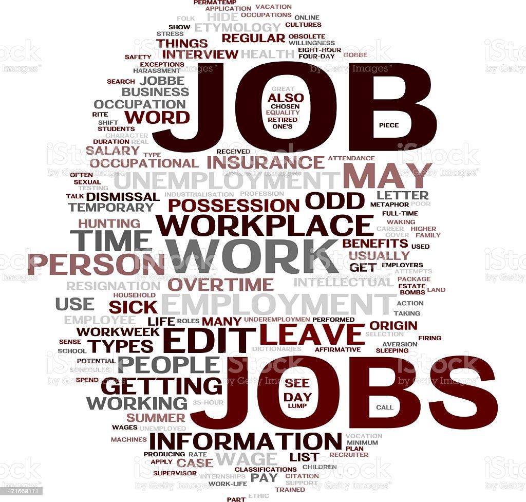 Job words cloud royalty-free stock photo
