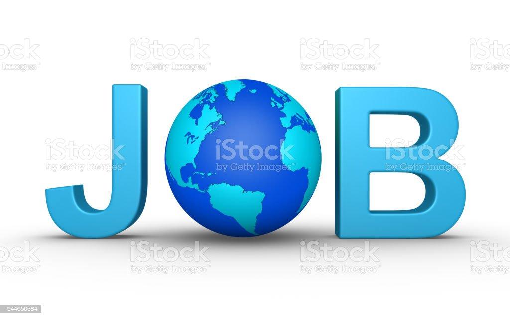 Job worldwide stock photo