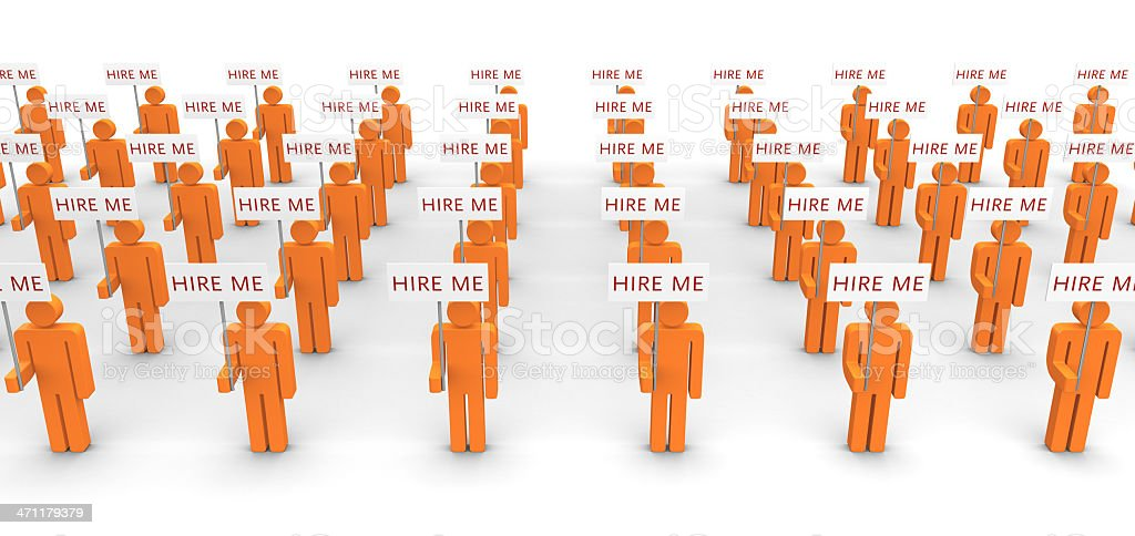 Jobless crowd royalty-free stock photo
