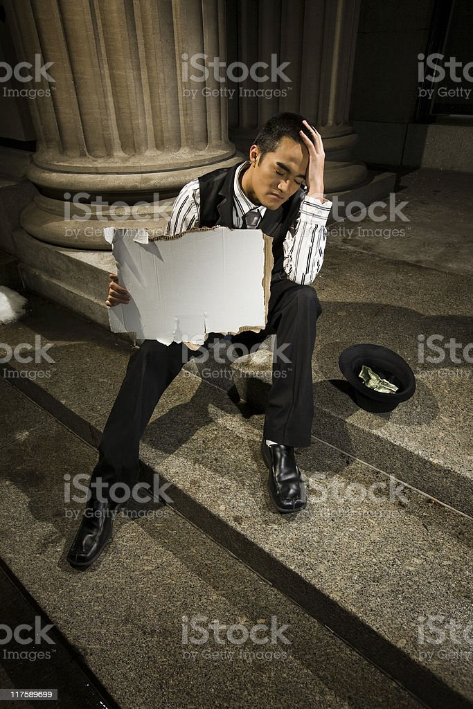 Jobless Despair royalty-free stock photo