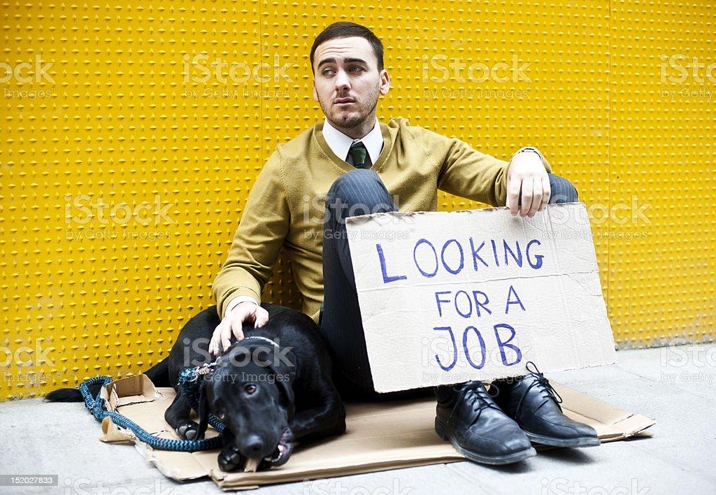 Jobless man stock photo
