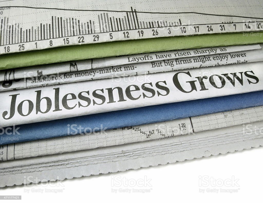 Joblessness Grows royalty-free stock photo