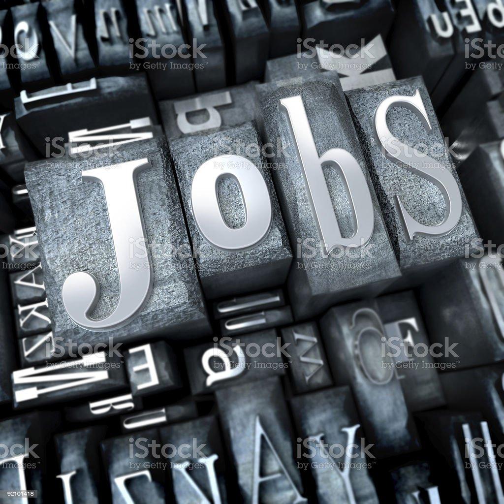 Jobs close-up royalty-free stock photo