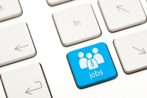Jobs Computer Key Stock Photo - Download Image Now