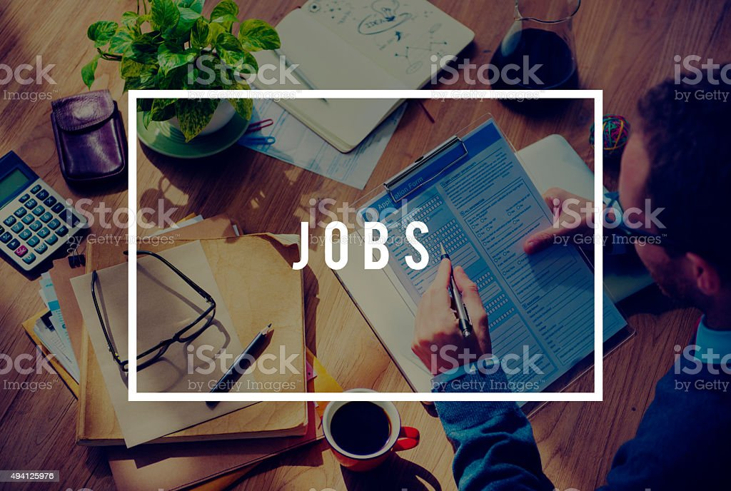 Jobs Employment Career Occupation Application Concept stock photo