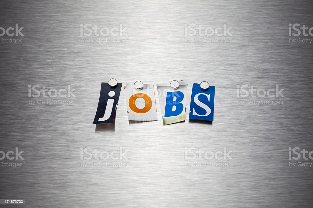 Jobs On Brushed Metal royalty-free stock photo