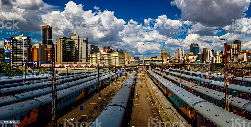 Joburg trains stock photo