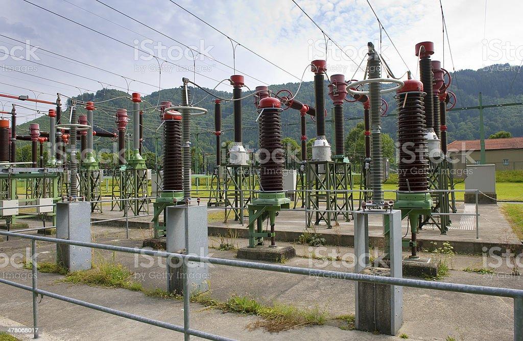 Jochenstein power station royalty-free stock photo