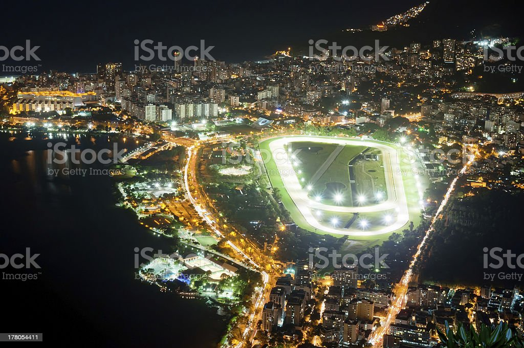 Jockey club and Leblon in Rio de Janeiro royalty-free stock photo