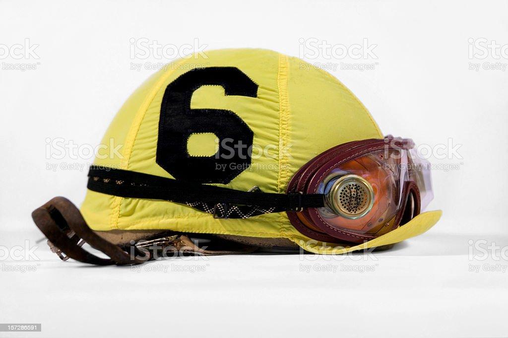 Jockey Helmet Horse Racing stock photo