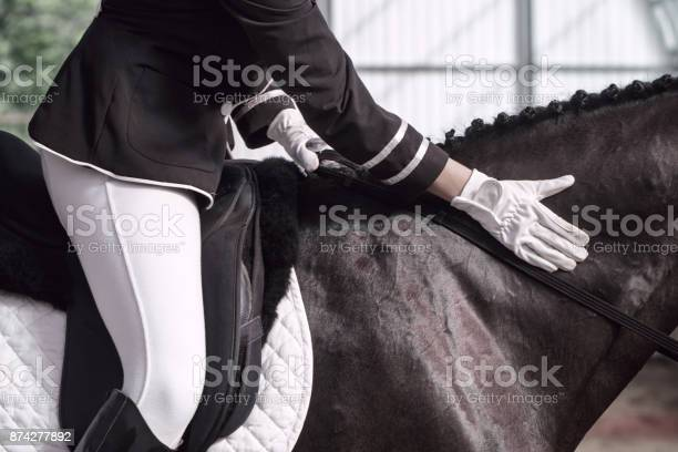 Jockey in saddle on horseback picture id874277892?b=1&k=6&m=874277892&s=612x612&h=5ok axq ysr03mxheu7pfsowhjfvfd68iwo2ev81mka=