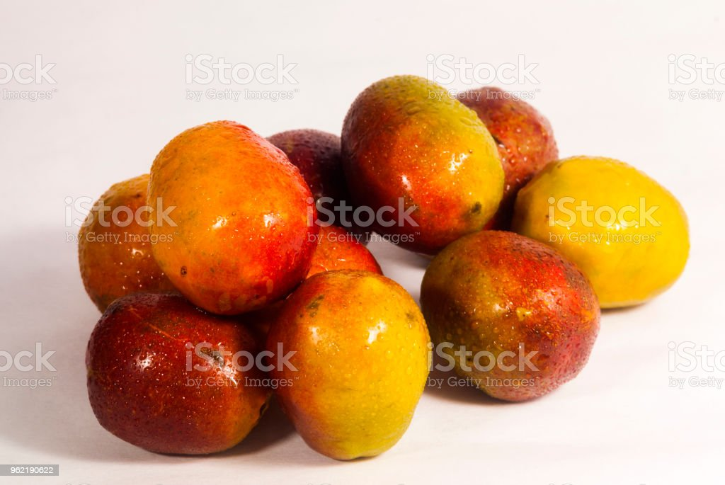Jocotes In Guatemala Tropical Fruit Spondias Purpurea Stock