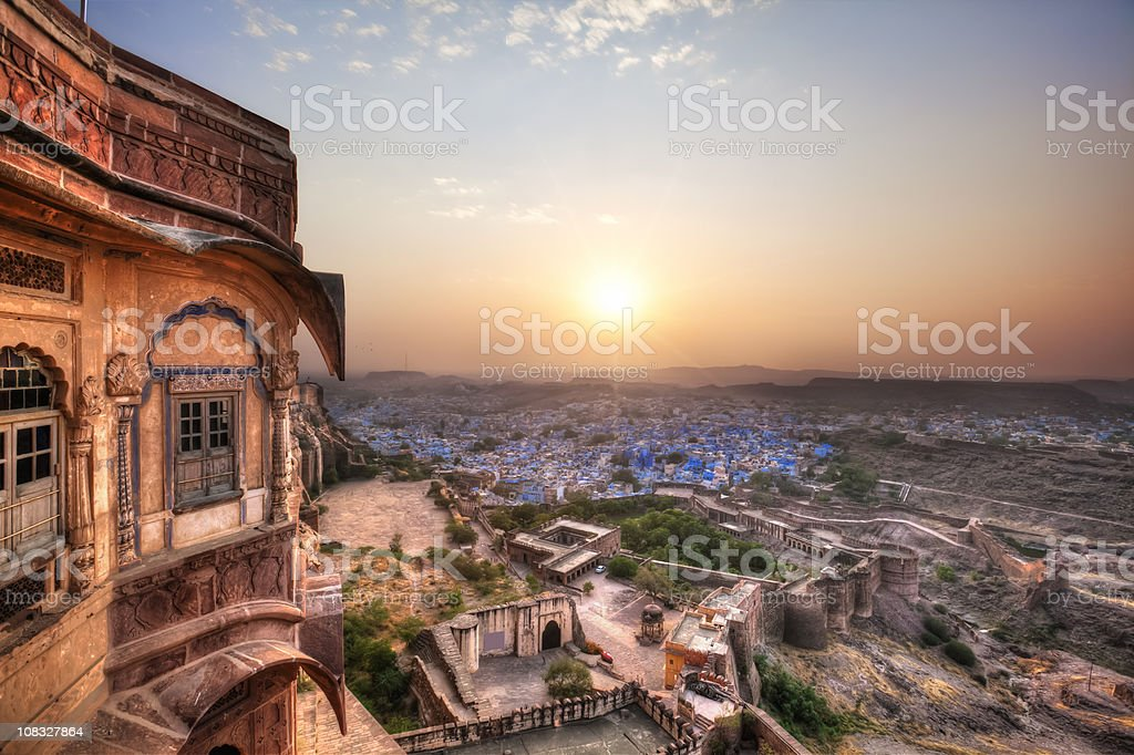 Jodhpur - Blue City (HDR) royalty-free stock photo
