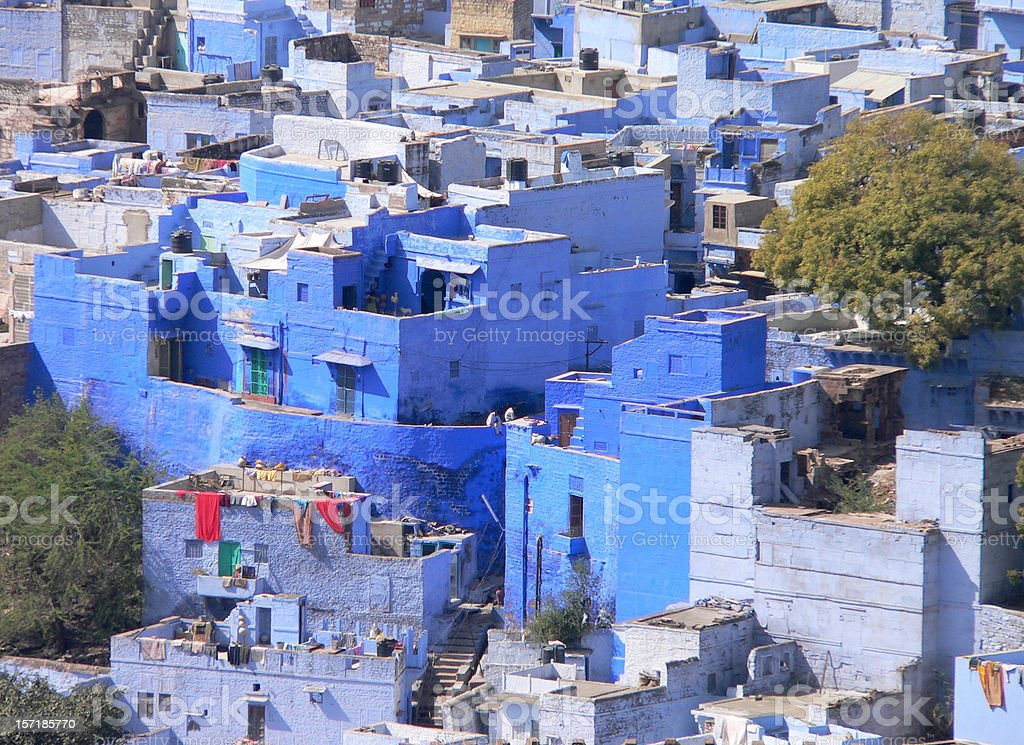 Jodhpur - Blue City, Rajasthan, India view from Mehrangarh Fort royalty-free stock photo