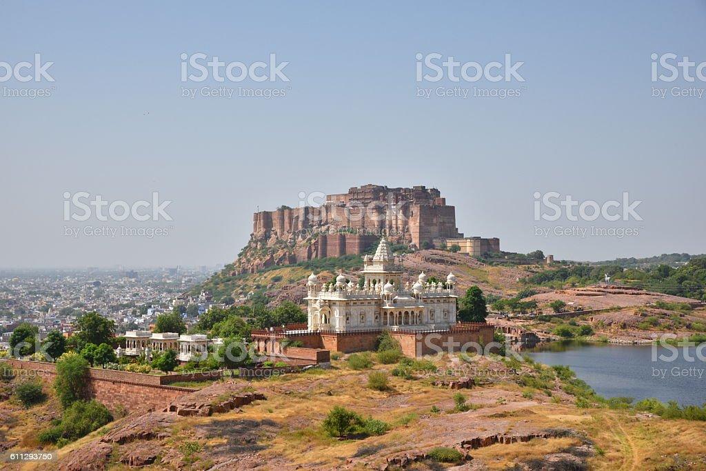 Jodhpur Jaswant Thada and Fort stock photo