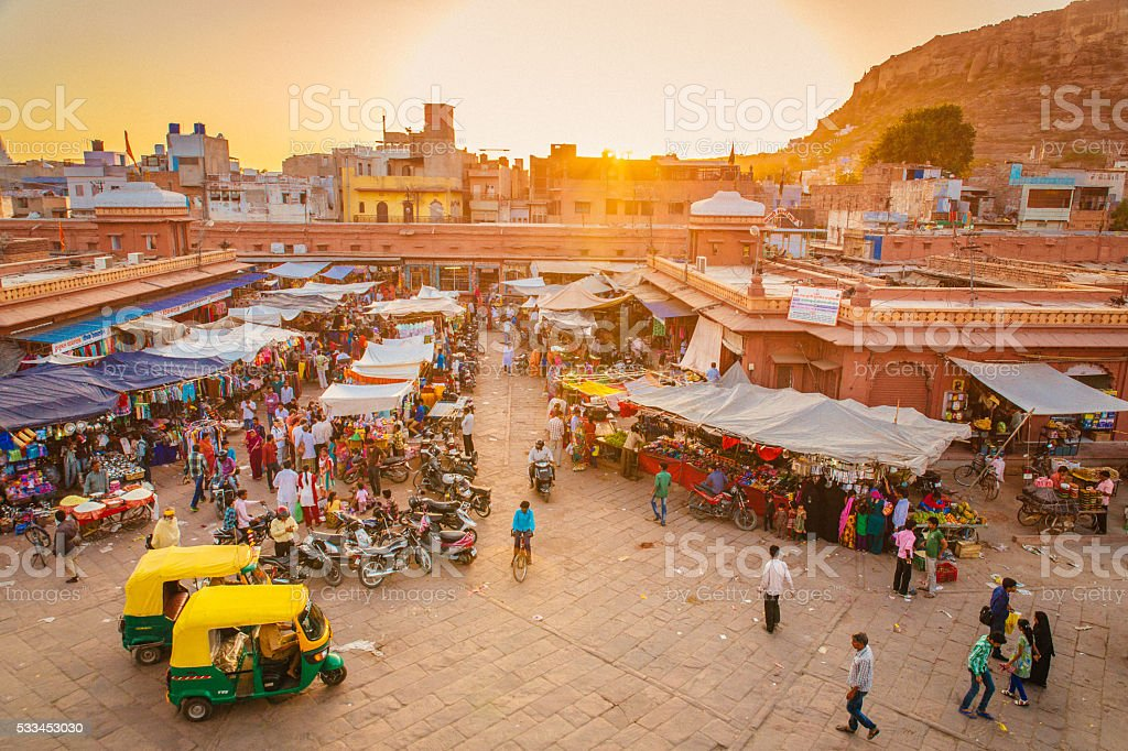 Jodhpur Market stock photo