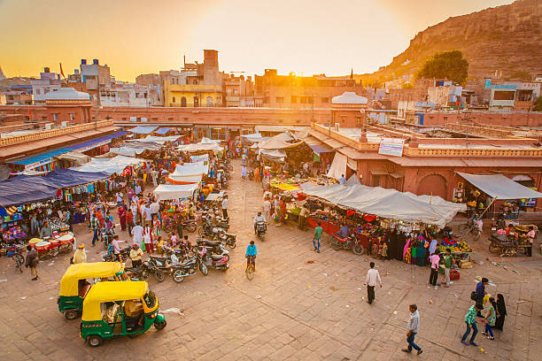 jodhpur market - india stock pictures, royalty-free photos & images