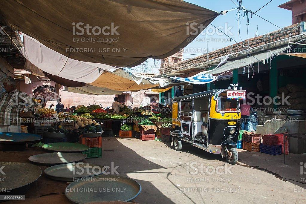 Jodhpur market royaltyfri bildbanksbilder