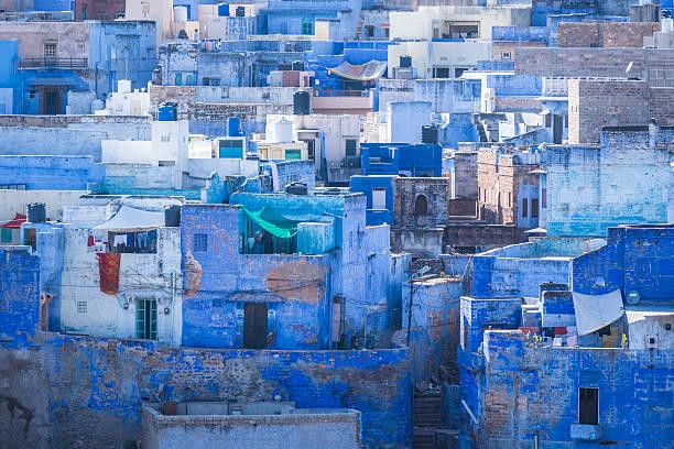 Reithose die Blaue Stadt Rajasthan, Indien – Foto