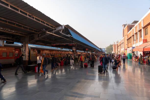 Jodhpur Train Station, India stock photo